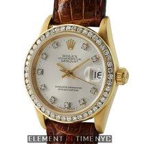 Rolex Datejust 18k YG 31mm Custom Diamond Bezel & Factory...