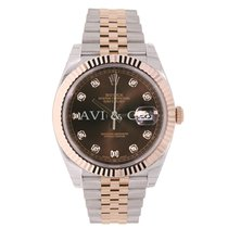 Rolex DATEJUST 41 Steel & 18K Rose Gold Watch Diamond Dial