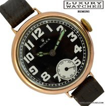 Rolex Military Trench WW1 black enamel dial rose gold 1917's