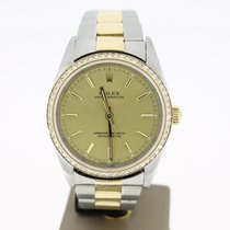 Rolex Oyster Perpertual 34mm Steel/Gold (BOX2003) Diamonds