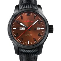 Fortis Aviatis Aeromaster Dusk Watch 42mm Swiss Auto Black Pvd...