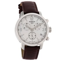 Tissot PRC 200 Mens Brown Leather Swiss Chronograph Watch...