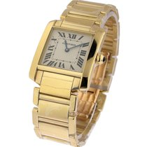 Cartier w50014n2 Tank Francaise Mid Size in Yellow Gold - on...