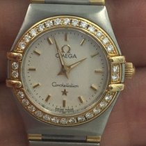 Omega Constellation  18 K & Ss Diamond  Factory Bezel Lady...