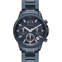 Armani Exchange Blue Dial Ladies Chronograph Watch AX4337