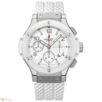 Hublot Big Bang 41mm Steel Carbon Rubber White Ladies Watch