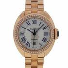 Cartier 31mm Rose Gold Diamond Watch WFCL0003
