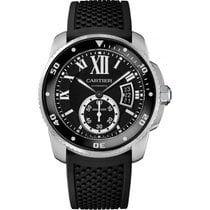 Cartier Calibre de Cartier Diver Stainless Steel on Rubber