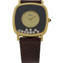 Chopard Ladies Chopard Happy Diamonds 18K Yellow Gold Watch 2106