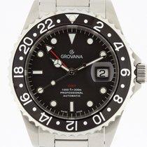 Grovana Automatic Diver GMT BLACK Bezel NEW 2 Years Warranty...