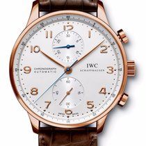 IWC IW371480 Portuguese Automatic Chronograph ROSE GOLD Silver...