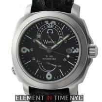 Anonimo Wayfarer GMT Stainless Steel 43mm Black Dial
