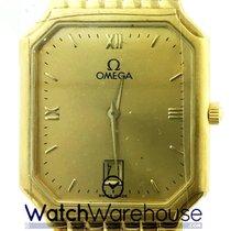 Omega DeVille 25MM 18K Yellow Gold Quartz Men's Watch...