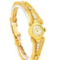 Tiffany 14k Yellow Gold Diamond Vintage Ladies Cocktail Watch...