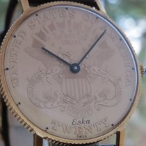 Eska The 18K Solid Gold COIN WATCH