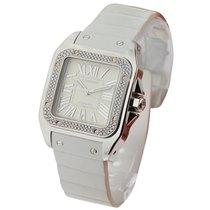 Cartier Santos 100 Mid size Diamond Bezel