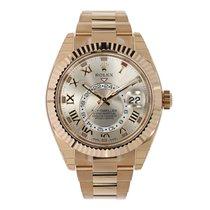 Rolex SKY-DWELLER 42mm 18K Everose Gold Watch 2016