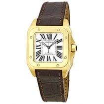 Cartier Santos 100 Ladies Watch 18kt oro amarillo W20112Y1