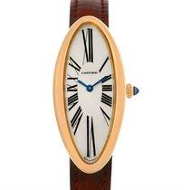 Cartier Baignoire Allongee Mecanique 18k Rose Gold Ladies Watch