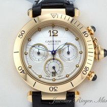 Cartier PASHA 38 mm GELBGOLD 750 CHRONOGRAPH AUTOMATIK