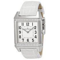 Jaeger-LeCoultre White Dial White Leather Ladies Watch