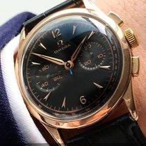 Omega Serviced Omega Vintage Chronograph in 18 carat pink gold