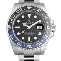 Rolex GMT Master II Batman Blue/Black Bezel Steel Black Dial