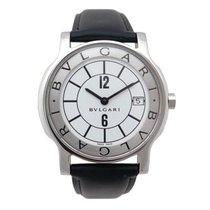 Bulgari solotempo st 35s 36 mm quartz acier palladie boite watch