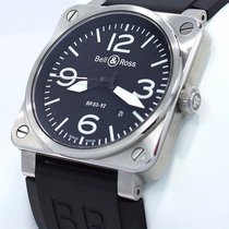 Bell & Ross Aviation Br0392 Steel Black Rubber Watch...