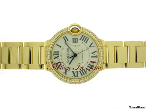 Cartier BALLON BLEU MEDIUM SIZE YELLOW GOLD DIAMOND