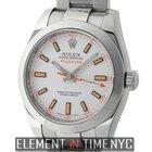 Rolex Milgauss Stainless Steel 40mm White Dial Circa 2009 116400
