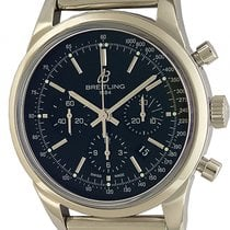 Breitling Transocean Chronograph Stahl Automatik 43mm Stahlband