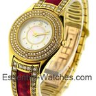 Mauboussin Lady's Yellow Gold with Red Bracelet - 2 Row...