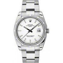 Rolex Oyster Perpetual 115210-WHTSFO 34mm White Index Engine-T...