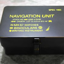 Nautica vintage watch metal box military style