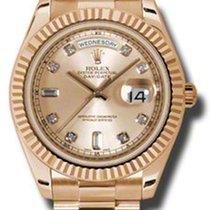 Rolex Day-Date II President Pink Gold - Fluted Bezel 218235 chdp