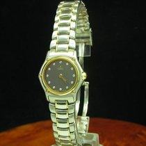 Ebel Sport Classique 18kt 750 Gold Stahl Damenuhr + Diamant...