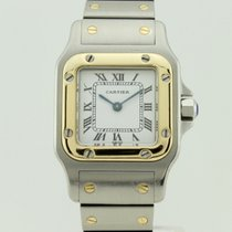 Cartier Santos Galbee Quart Steel and 18K Gold Lady 1057930