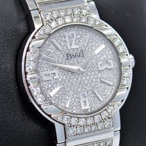 Piaget Polo G0a36234 18k White Gold All Factory Diamonds Watch...
