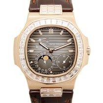 Patek Philippe New  Nautilus 18 K Rose Gold With Diamonds...