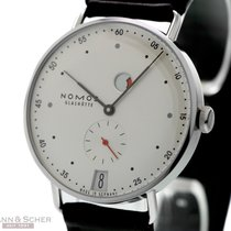 Nomos Metro Ref-1101 Stainless Steel Box Papers Bj-2015 Like New