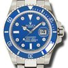Rolex SUBMARINER WHITE GOLD BLUE DIAMOND DIAL CERAMIC BEZEL -...