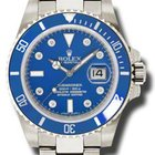 Rolex SUBMARINER WHITE GOLD BLUE DIAMOND DIAL CERAMIC B...