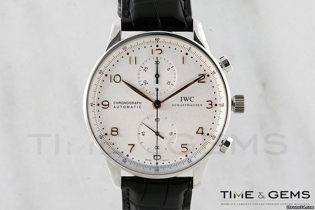 IWC Portuguese Chrono Automatic Steel Black Mens Watch