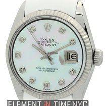 Rolex Datejust Stainless Steel 36mm RubberB MOP Diamond Dial...