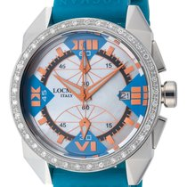 Locman Cavallo Pazzo Diamond Mother of Pearl Dial Blue and...