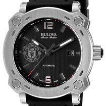 Bulova Accu-Swiss Percheron Manchester United Automatic Steel...