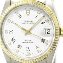 Tudor Polished  Prince Oyster Date Diamond 18k Gold Steel...