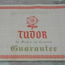 Tudor RARE  BOOKLET WARRANTY GUARANTEE blank stamp dealer 1960