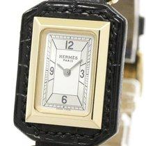 Hermès Polished Hermes Hauteville 18k Pink Gold Quartz Ladies...